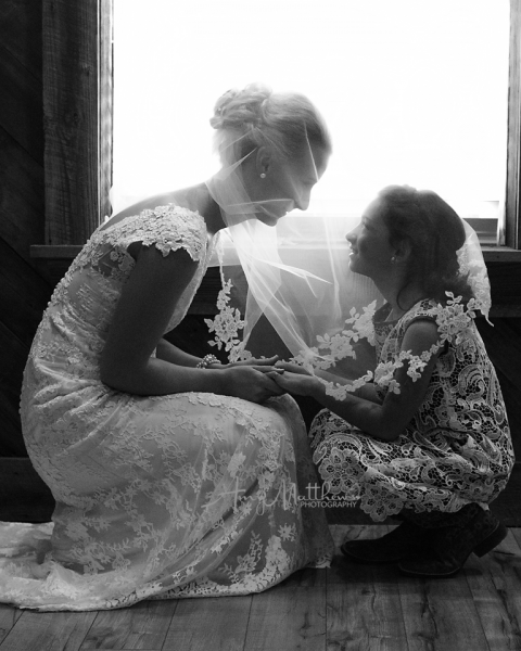 [Image: The bride and the flower girl]