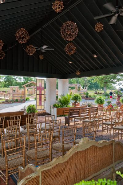 [Image: Venue rental from Thorndale Oaks includes exclusive use of the building and outside courtyard equipped with indoor and outdoor fireplaces, a impressive sound system, and much more! We also include ample free parking! Give us a call today to learn more about what our unique venue has to offer. ]